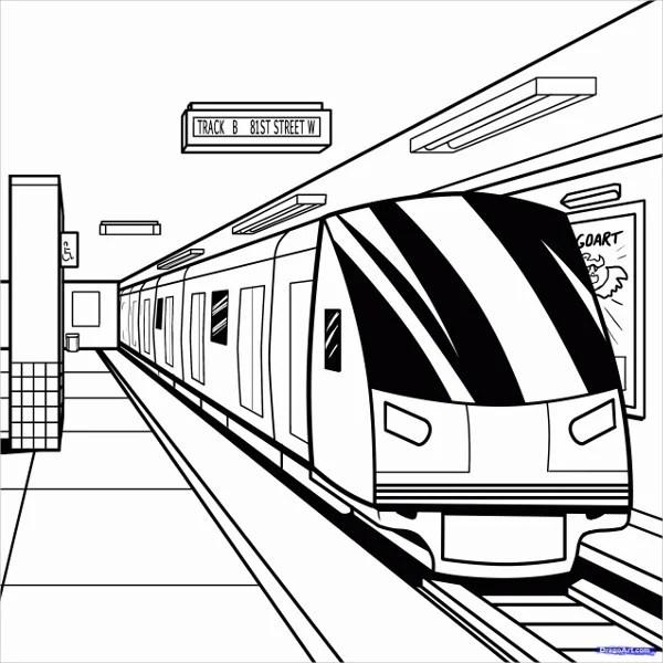 train coloring # 58