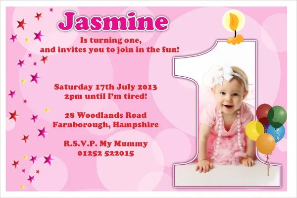 collections of 1st birthday invitation