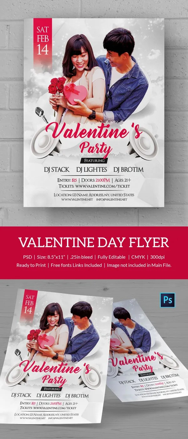 25 Free Valentine's Day Templates Flyer Invitations