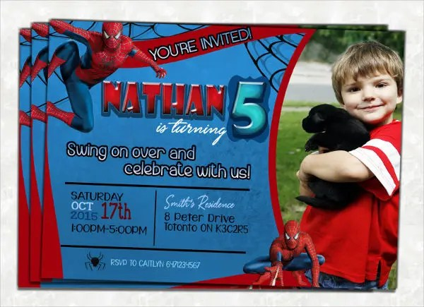 7th birthday invitation boy template