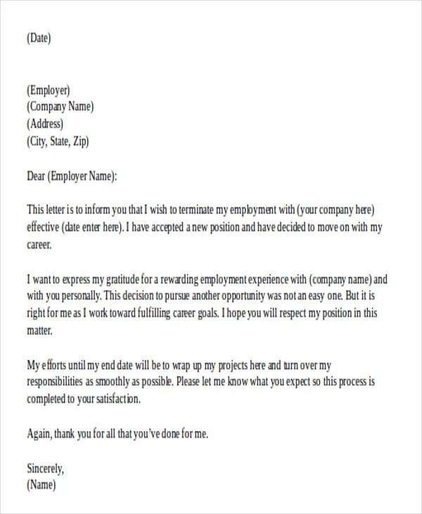 42 Resignation Letter Template In Doc Free & Premium