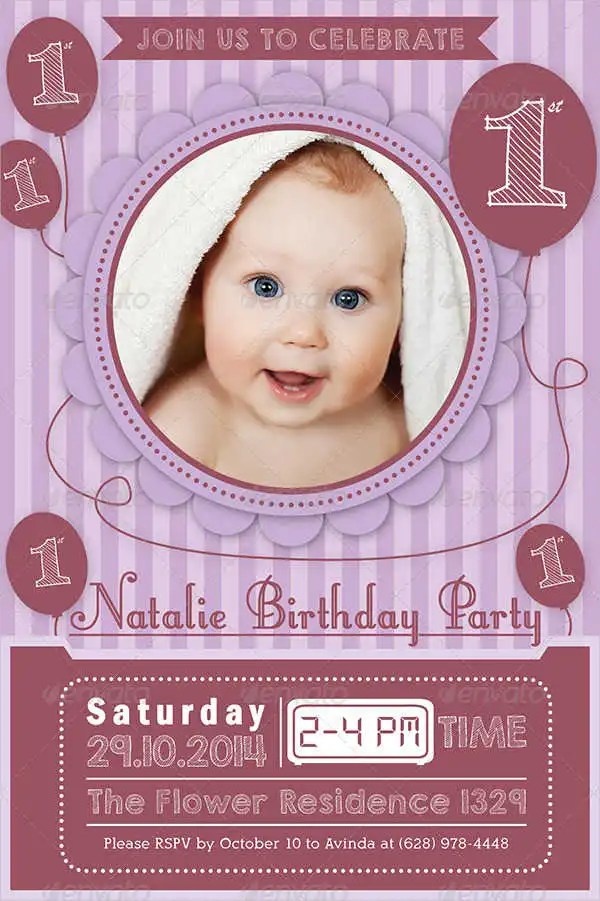 birthday invitation format templates
