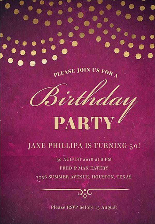 34 Birthday Invitation Format Templates Word PSD AI