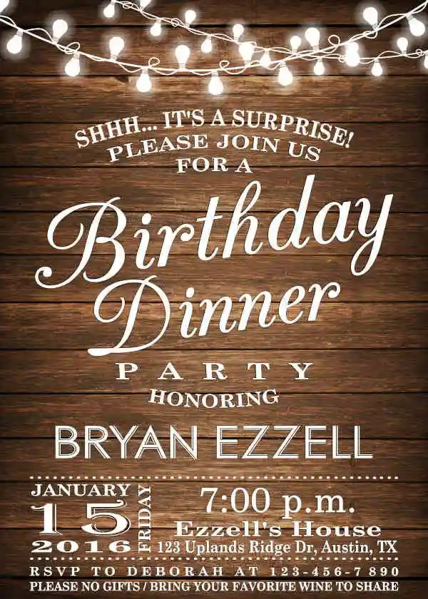 62 Printable Dinner Invitation Templates PSD AI Word