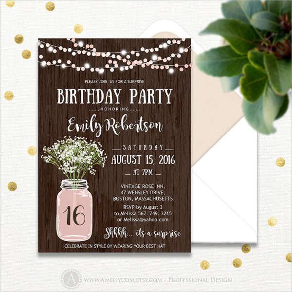 15 Birthday Invitation Templates in PDF  Free  Premium