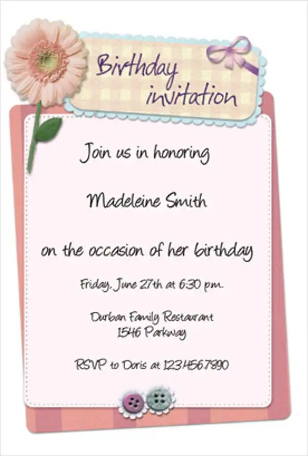 birthday invitation templates in pdf