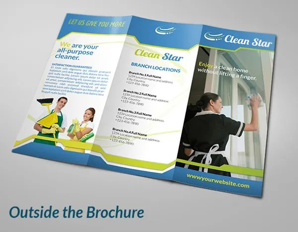 Cleaning Company Brochure Samples Ideal Vistalist Co