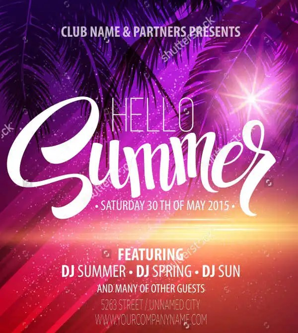 12 Summer Party Flyers PSD AI Vector EPS Free Premium Templates