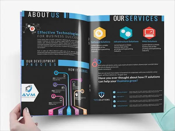 Company Brochure Examples Ideal Vistalist Co