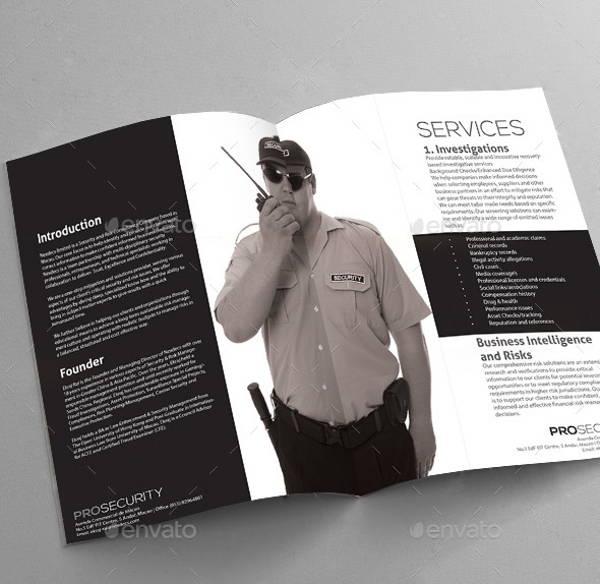 15 Security Company Brochures Designs Templates Free Amp Premium Templates