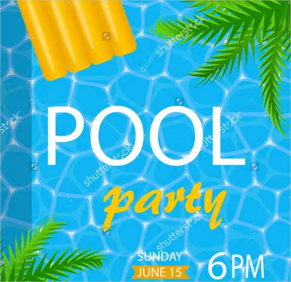 8 Pool Party Flyers  Free PSD PDF Vector EPS