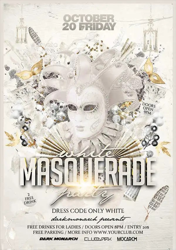 12 Masquerade Party Flyers Word PSD AI EPS Vector Free Amp Premium Templates