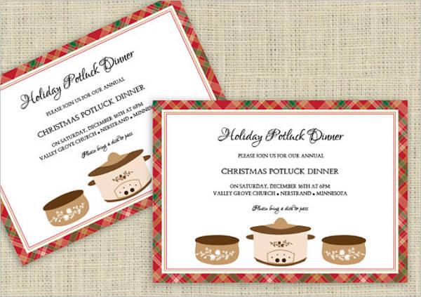 8 Potluck Party Invitations PSD AI Free Premium