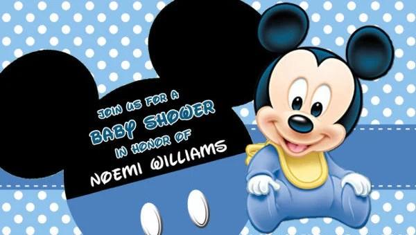 7 mickey mouse photo invitations