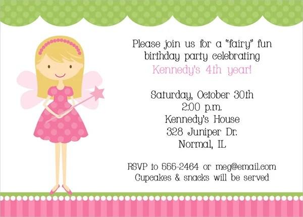 fairy party invitations templates free - wedding invitation sample, Birthday invitations