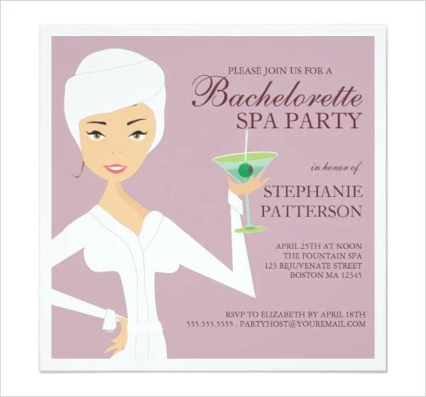 10 spa party invitation