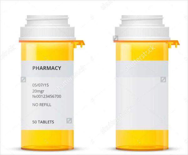 prescription labels template