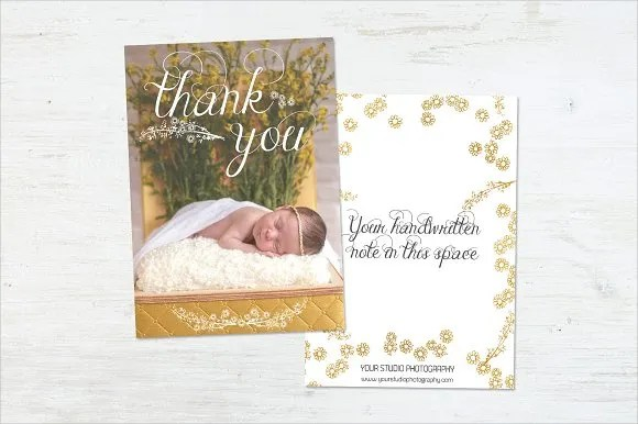 9 Baby Shower Thank You Cards PSD AI Word Free Amp Premium Templates
