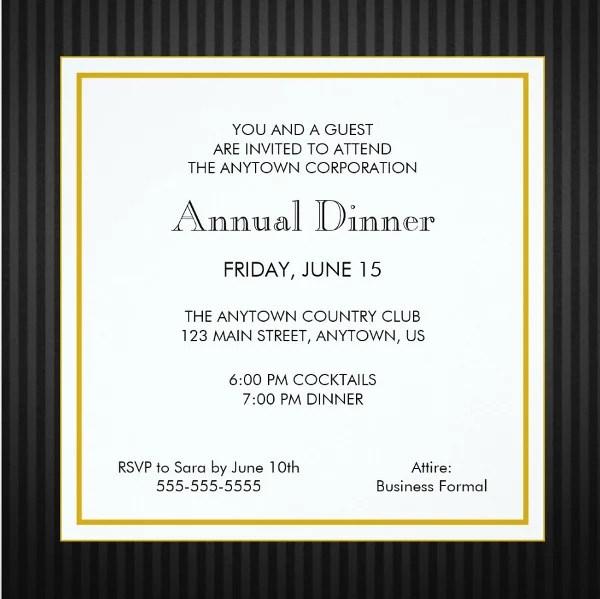 Professional Business Dinner Invitation