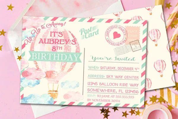 photo postcard invitations