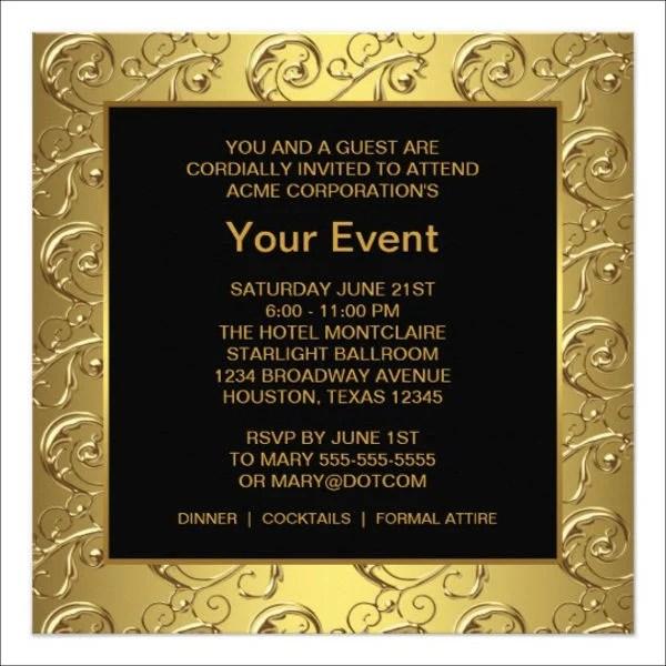 Event Invitation Cards Templates – Corporate Party Invitation Template