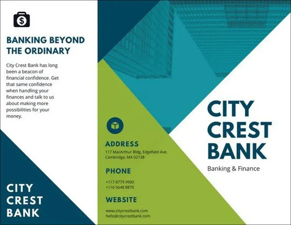 8 Corporate Banking Brochures PSD Google Docs Apple Pages Publisher Free Amp Premium