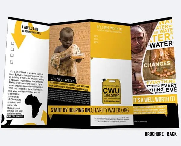 7 Corporate Fundraising Brochures Editable PSD AI