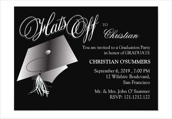 Graduation Farewell Dinner Invitation