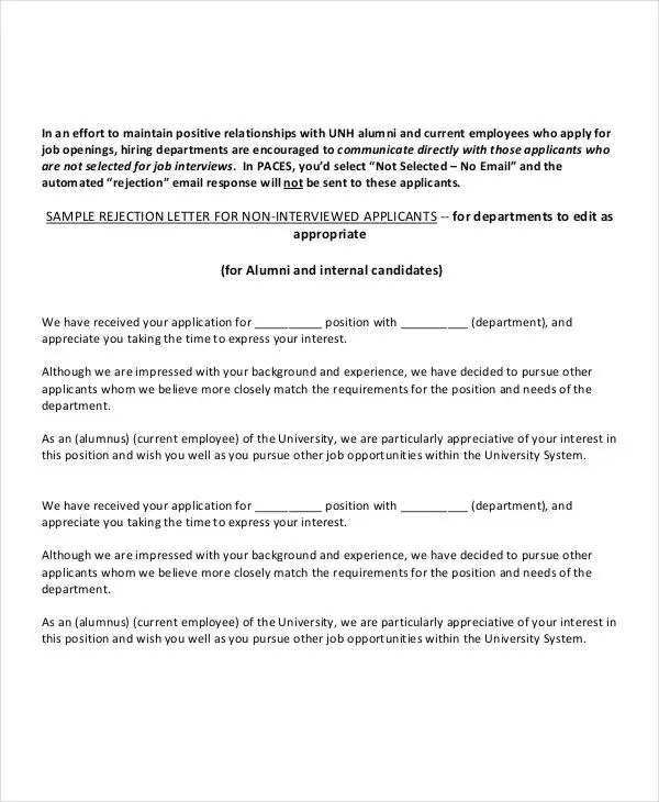 Employment Application Letter 9 Sample Example
