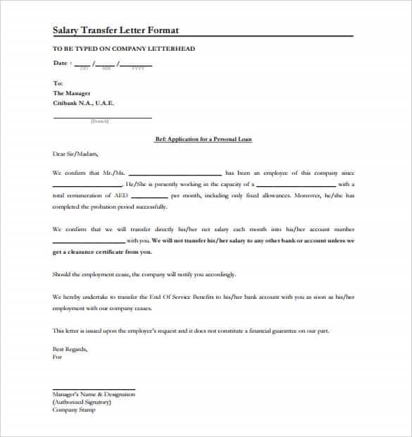 44 Transfer Letter Templates PDF Google DOC Excel