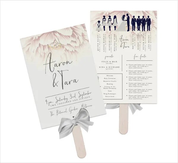 8 Wedding Fan Program Templates PSD Vector EPS AI Illustrator Download Free Amp Premium