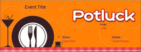 Potluck Flyer Templates Free Hobitfullring