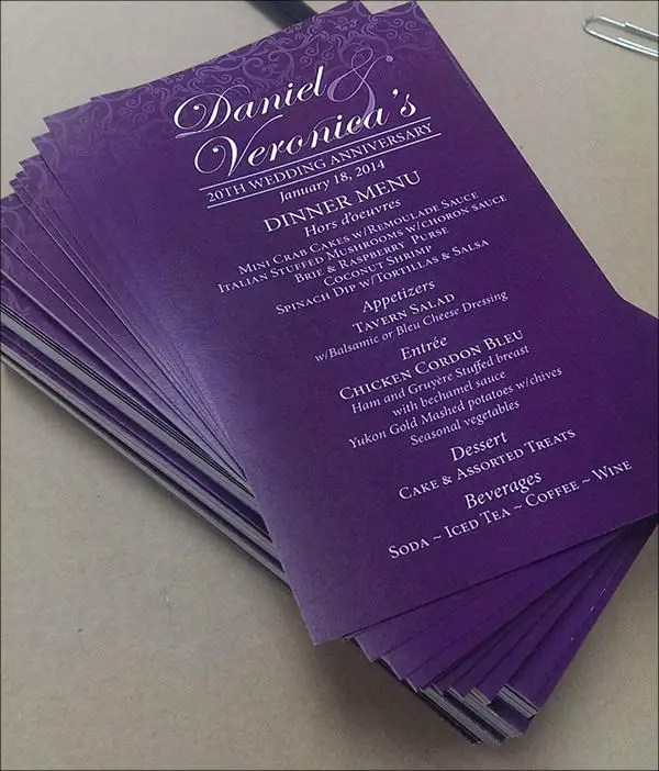 7 Wedding Dinner Program Templates  PSD AI  Free  Premium Templates