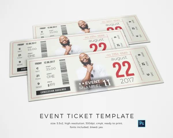 event ticket design template