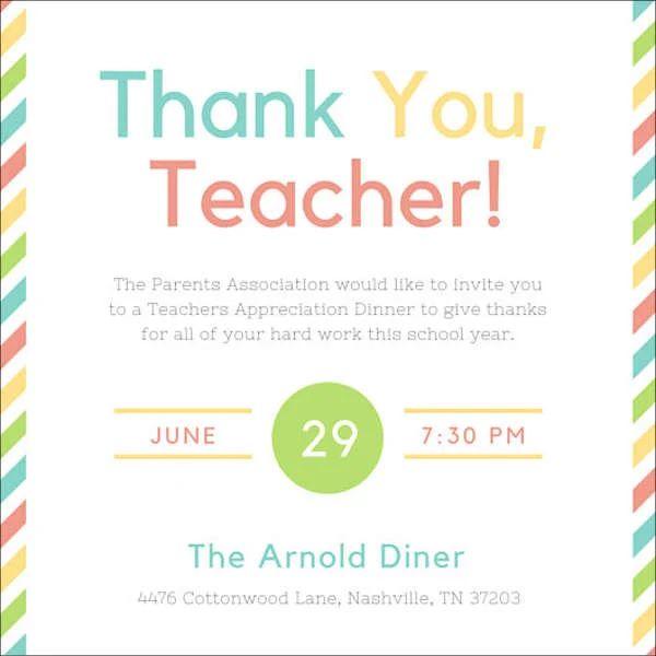appreciation dinner invitation wording