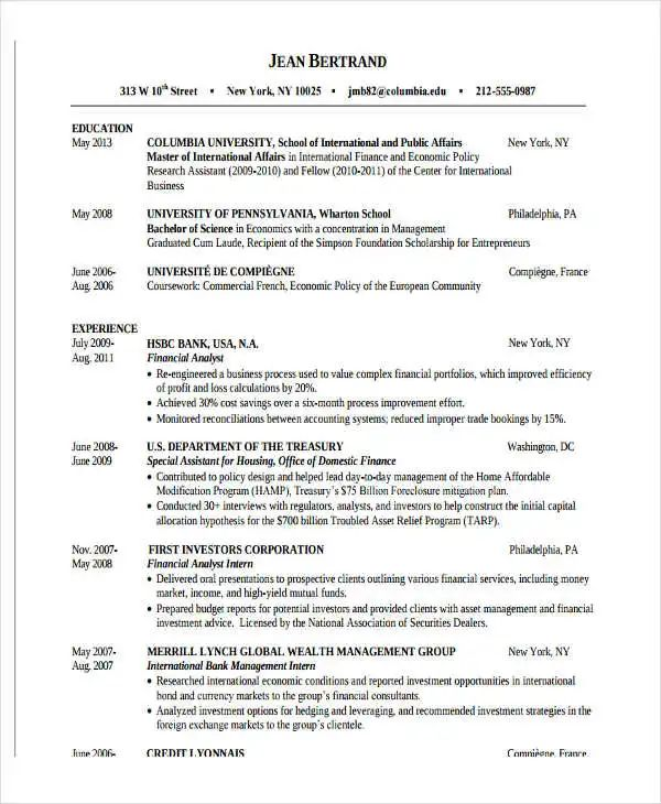 10 fresher resume templates download pdf