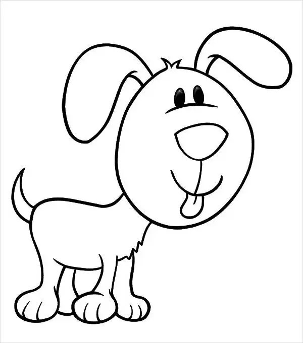 Dog Collar With Face Coloring Page Pictures to Pin on