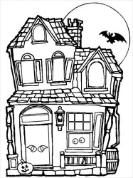 coloring haunted pages colouring template templates tree