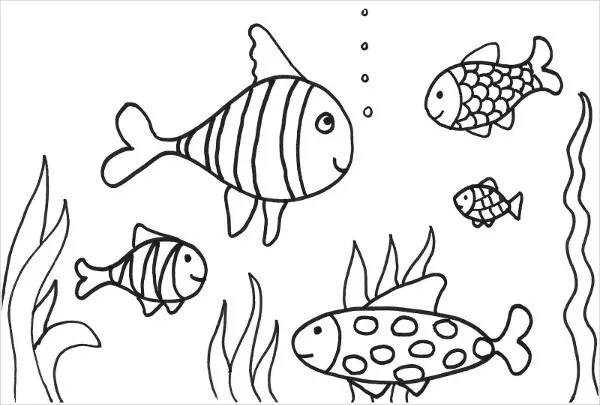 8 Fish Coloring Pages Jpg Ai Illustrator Free Premium Templates