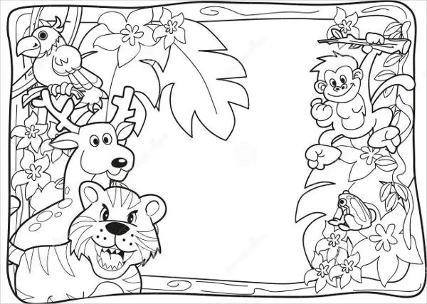 jungle coloring page # 24