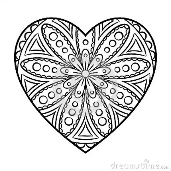 7 Heart Coloring Pages Jpg Ai Illustrator Download Free Premium Templates