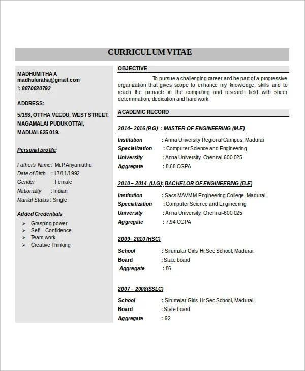 IT Fresher Resume  6 Free Word PDF Documents Download  Free  Premium Templates