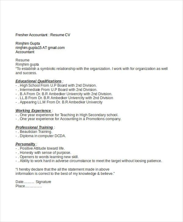 finance resume experts