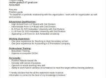 Statement of purpose resume