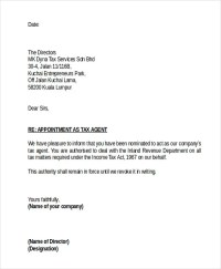 Agent Appointment Letter Template - 10+ Free Word, PDF ...