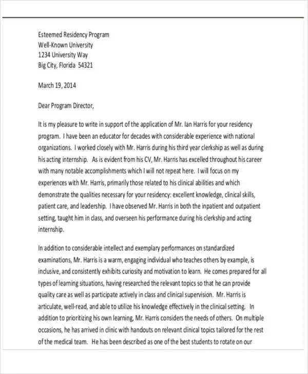 Transfer Recommendation Letter Template 5 Free Word