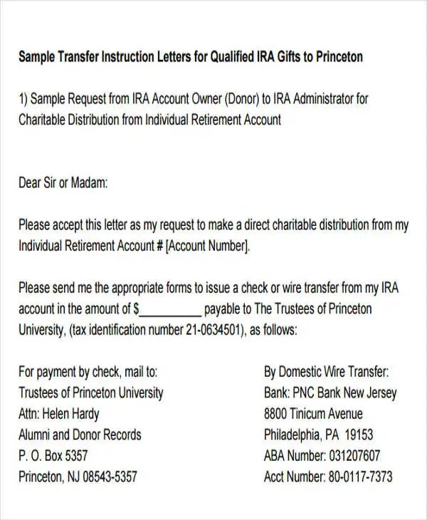 13 Fund Transfer Letter Templates Pdf Doc Apple Pages Google Docs Free Premium Templates
