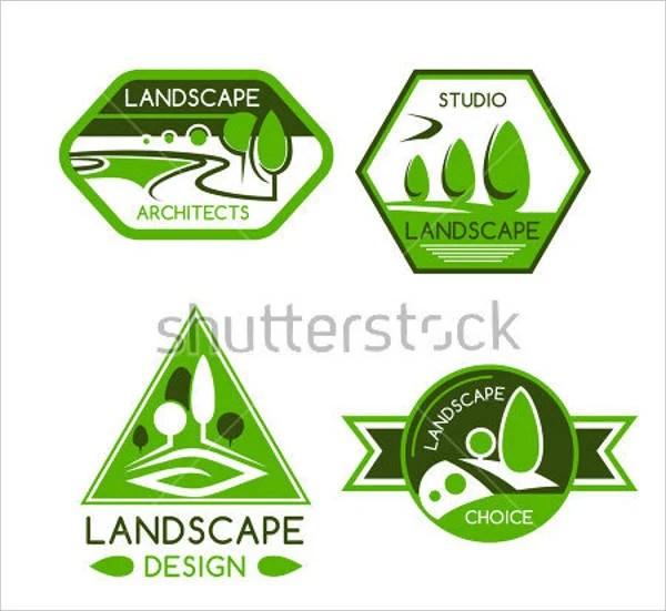8 lawn service logos - psd