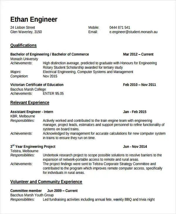 fresher mba lecturer resume sample