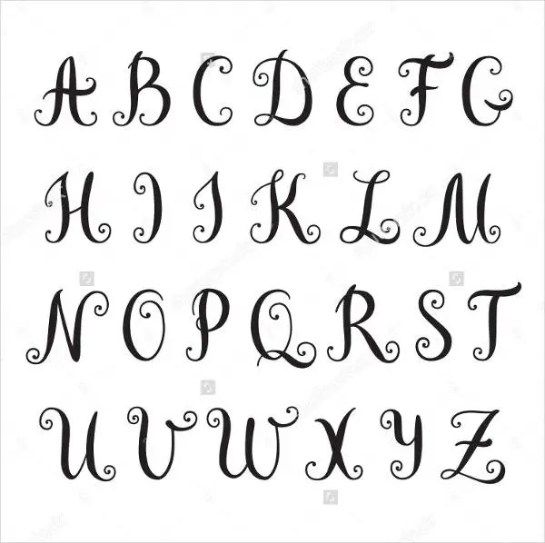 photo about Printable Fancy Lettering named printable extravagant letters